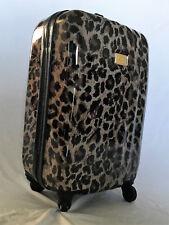 Victoria's Secret Leopard Hard Shell Print Rolling Suitcase