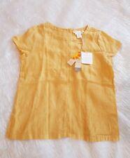 C & C California Women's Buttercup Yellow Size UK 10 Linen Button Top Summer