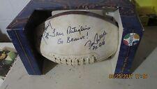 Cleveland Browns Autographed Football Coach Sam, Greg Pruitt, Don Cockroft Rare!