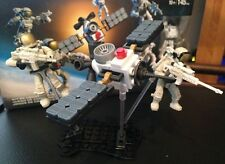 LEGO ASTRONAUT AND SPACE STATION MEGA BLOKS --> With Weapons!!