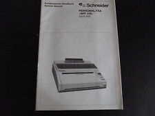 Original Service Manual Schneider personal fax SPF 100