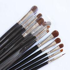 15 Pcs Pro Black Eye Shadow Brush Eyeshadow Blending Bare Makeup Brush Good Gift