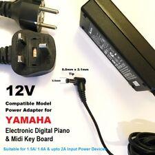 12V Power Adapter for Yamaha Piano PSR-83, PSR-84, PSR-85, PSR-90