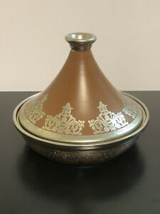 Tagine - Brown and Silver in Porcelain and Stainless Steel