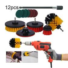 Drill Brushes Set 12pcs Tile Grout Scrubber Cleaner Kit Spin Shower Wall Pads