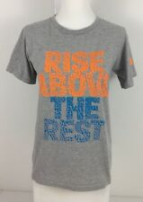Adidas Womens Small Shirt Gray Rise Above The Rest Performance Gym Cross Fit Euc
