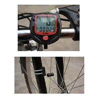 LCD Digital Bike Cycling Computer Waterproof Odometer Speedometer Stopwatch UK