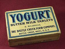 Vintage Milk The Battle Creek Food Company Yogurt Medicine Pill Tin Box Medical