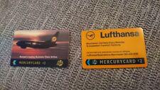 2x Lufthansa Airways plane airline Mercury Telecom UK phone cards British seller