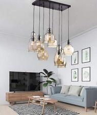 Modern Cognac Glass Cluster Chandeliers Hanging Ceiling Fixtures Pendant Lamps