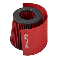 Heat Shield Cover For 2.25 - 3'' Cone Air Filter Stainless Steel Red Universal
