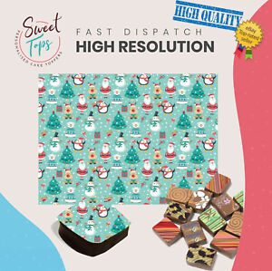 Chocolate Transfer Sheet (Santa | Reindeer) Edible for Decorations A4 Size