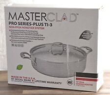 """NEW Masterclad Pro Series 12"""" Covered Roaster 5-Ply Stainless Steel Oven Safe"""