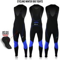 FDX Men Cycling Bib Tights Winter Thermal Padded Hi Viz Cycling Trouser Leggings