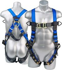 Fall Protection Body Safety Harness With 5pt Adjustments Pass Through Chest