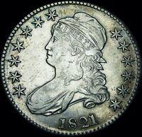 1821 Capped Bust Half Dollar --- NICE --- #T821