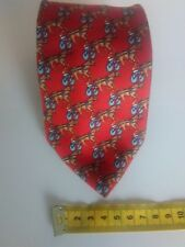 mens Trotters Themed Tie, Tiziani, Made In Italy, 100% Silk