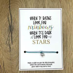 HOPE friendship STAR Rainbow wish string bracelet Gift birthday quarantine
