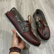 Sperry Gold Cup A/O Authentic Original 2 Eye Boat Shoes Burgundy Red Men Sz 11 M