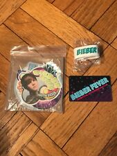Justin Bieber Fever Official Fan Club Package Set Stickers Bracelet Card