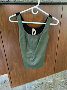 Bailey 44 Sleeveless Tank Top With Leather Size:XSmall Color: Green And Black
