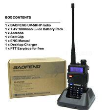 Two (2x) Baofeng UV-5RHP 8W Tri- Power Two Way Radio Prepper Package
