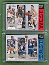 1993/94 Upper Deck NBA All Stars Limited Edition 2 card set in Special Holders