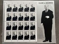 USA Briefmarken Bogen 20x 32 Cent 1997 Legends of Hollywood - Hitchcock #30628-S