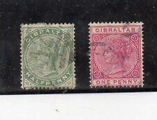 Gibraltar Monarquias Valores del año 1886-98 (CS-245)