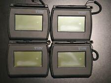 New listing Lot of 4 T-Lbk750-Bhsb-R Topaz SigLite Lcd 4x3 Signature Capture Pad