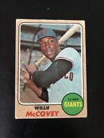 1968 TOPPS #290 WILLIE McCOVEY HOF SF GIANTS— POPULAR ISSUE💥*** (wph)