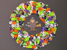 Witch On A Broom Ribbon Wreath
