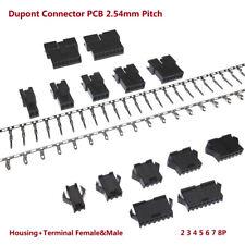 Dupont Conector PCB 2.54mm Pitch SM 2 3 4 5 6 7 8P vivienda + Terminal Hembra & Macho