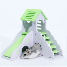 Pet Rat Hamster Wooden Climbing House Cottage Cage Nest Squirrel Playing Toy