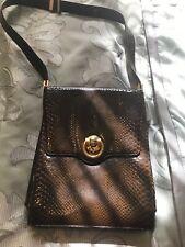 VTG Koret Brown Genuine Leather Handbag W/ Change Purse Gold Accents EUC