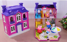 Peppa Pig Purple house Villa with 4pcs Girls Kids Children toys xmas gift