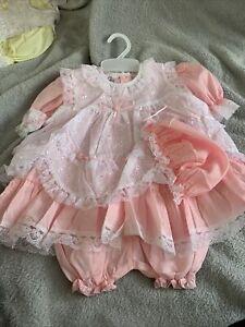 Pink White Baby Girl Girls Summer  Lace Bridesmaids Flower Girl Dress 6-12 Mths
