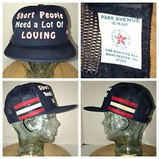 VTG SHORT PEOPLE NEED LOVING 70s 80s USA 3 Side Stripes Trucker Hat Cap Snapback