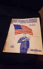 THERE'S A STAR SPANGLE BANNER WAVING SOMEWHERE VINTAGE  MUSIC COPYRIGHT 1942