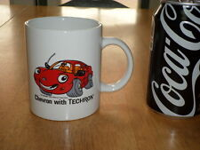 CHEVRON CARS with TECHRON, Ceramic Coffee Cup, CHEVRON GAS / FUEL STATIONS