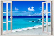 Huge Window Wall sticker Beautiful Tropical Beach Vinyl Decor 3d Mural Art Home