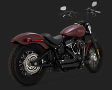 2018 Harley Softail FLDE Deluxe : Vance and Hines Black Short Shots : 47233