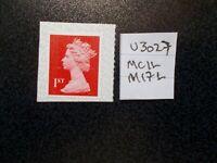 GB 2017~ Security Machin~1st~SG U3027~MCIL~M17L~~Unmounted Mint~UK Seller