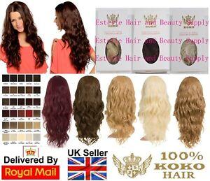 KOKO Grace Long Beach Wave Hair 3/4 Half Head Wig Wavy Hairpiece Various Colours
