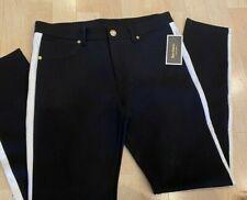 Juicy Couture Pitch Black Side Stripe Ponte Pants - Women's 8
