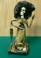 Paper Mache Catrina Figure Mexican Handcraft Day of the Dead