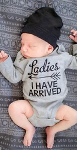 Baby Boys Romper - Ladies I Have Arrived - Long Sleeve - 0-6 Months