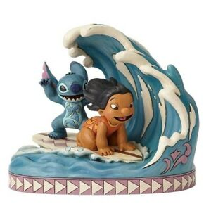 "Lilo & Stitch Surfing Figurine ""Catch the Wave"" Jim Shore Disney 4055407"
