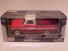 1966 Chevy C-10 Fleetside Pickup Truck Die-cast 1:24 Motormax 8 inch Red White