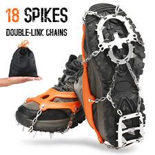 18 Zähne Schuhe Spike Schuhketten Eiskrallen Spike Schuhkrallen Wandern M ORANGE